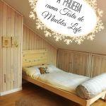 Cama de madera inspirada en los muebles con palets