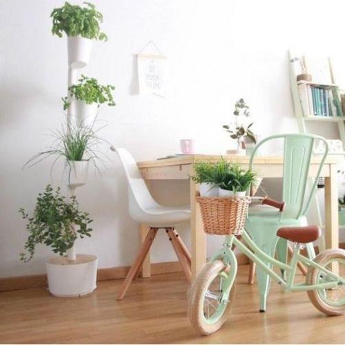 Jard n vertical o colgante en casa con curiosos sistemas for Macetas para jardin vertical