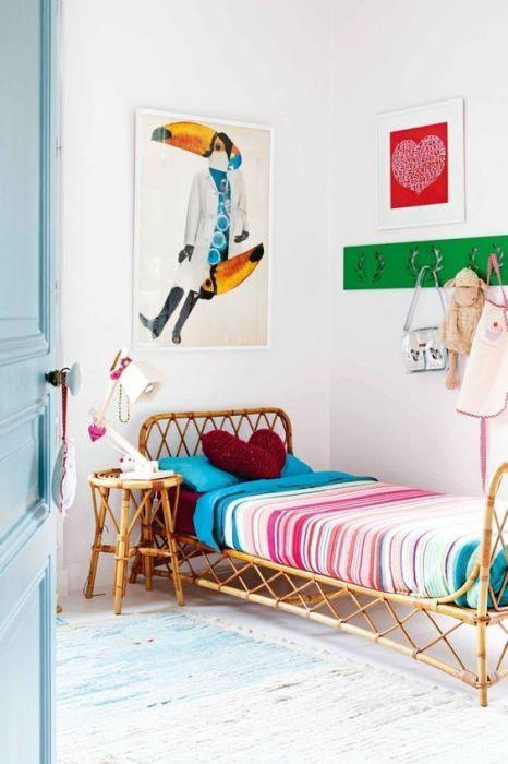 Pon piezas de ratán en la habitación de los niños: buenas ideas para decorar habitaciones infantiles originales sin recargar.