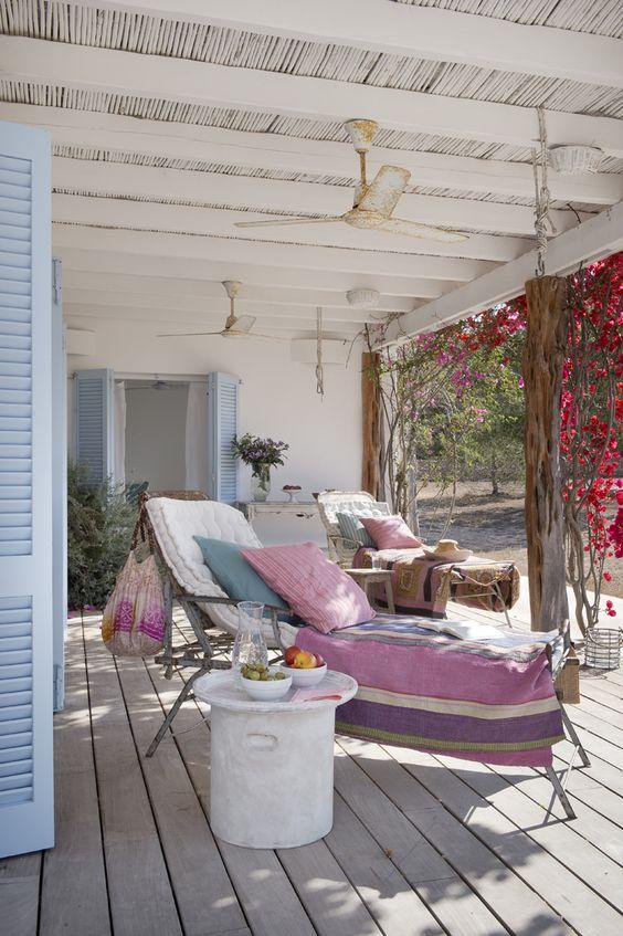 Ventiladores para una terraza fresca en verano
