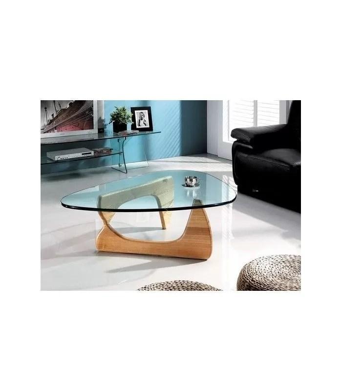 table basse design en verre et bois boomy