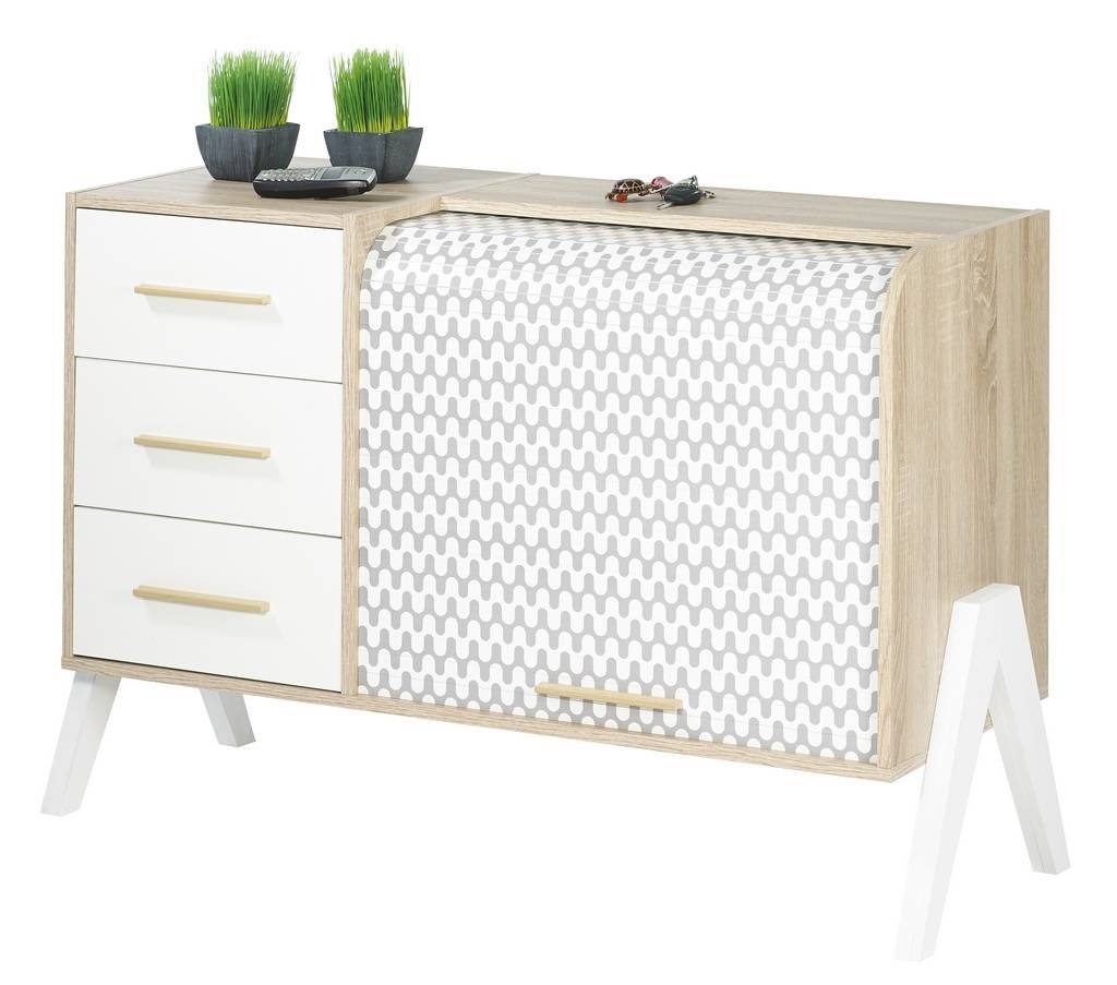 meuble de rangement blanc a rideau pas