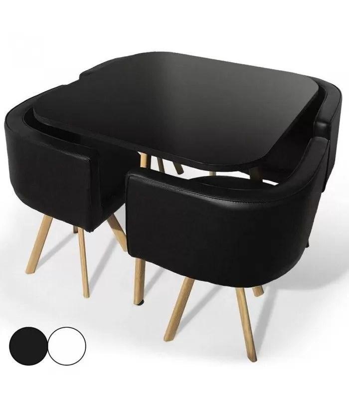 table et chaises encastrables design scandinave osly