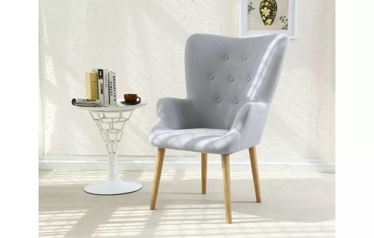 fauteuil scandinave barkley en tissu