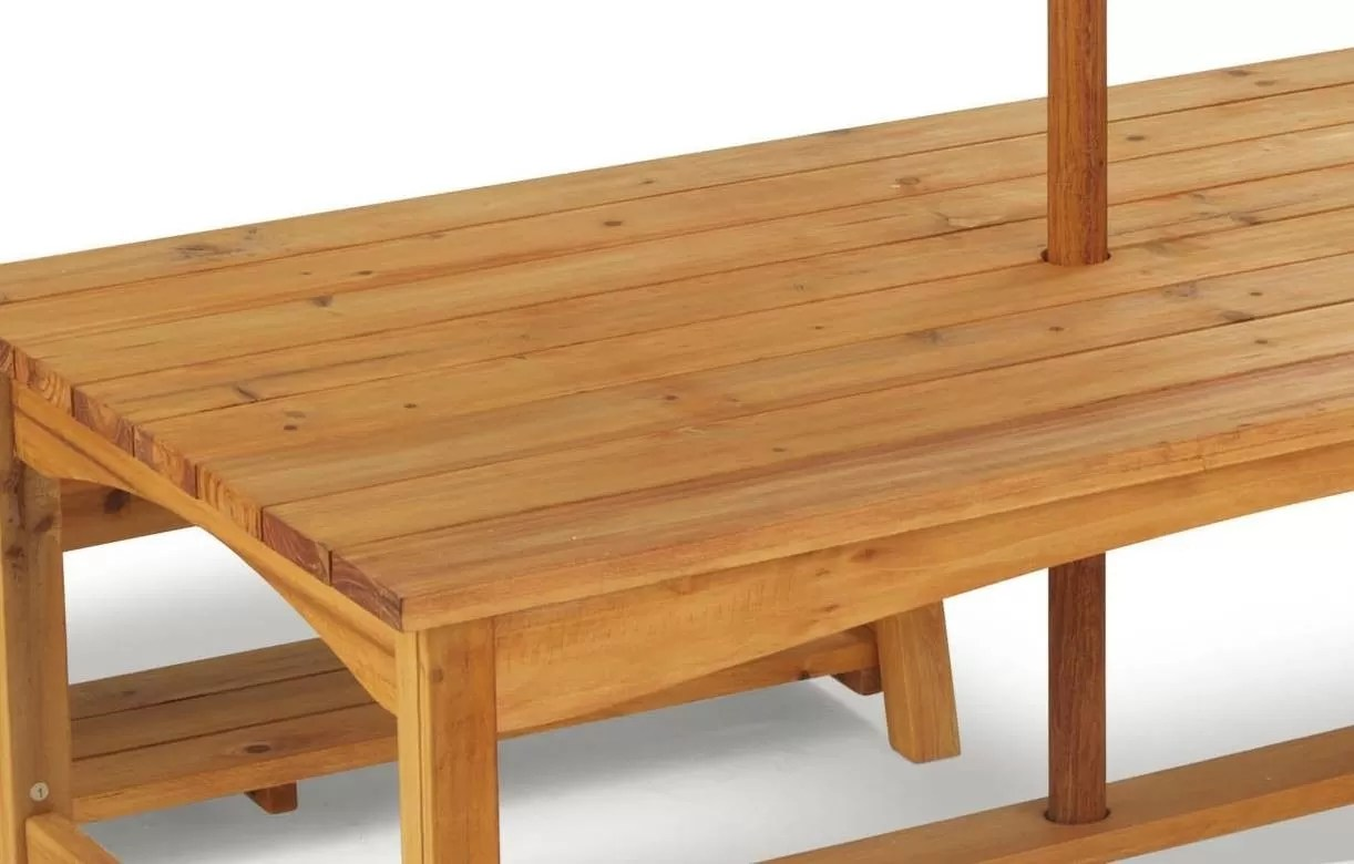 Table De Jardin Enfants Avec Bancs Et Parasol Kidkraft 00106