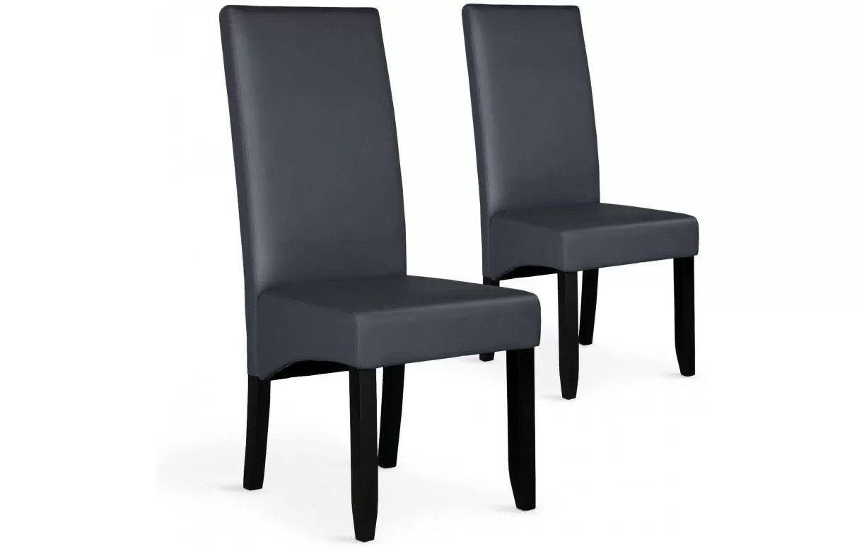 chaise en simili cuir haut dossier