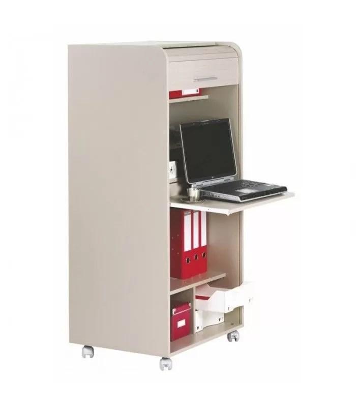 armoire bureau informatique a roulette et rideau deroulant blog