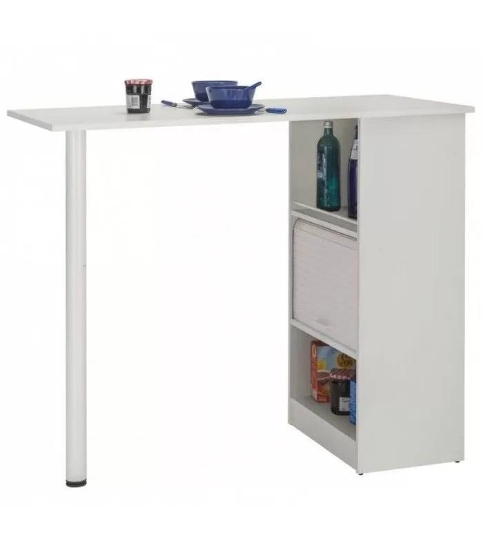 meuble cuisine a rideau avec table integree noire ou blanche lucky