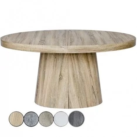 table ovale extensible 3 rallonges en bois 5 coloris decome store