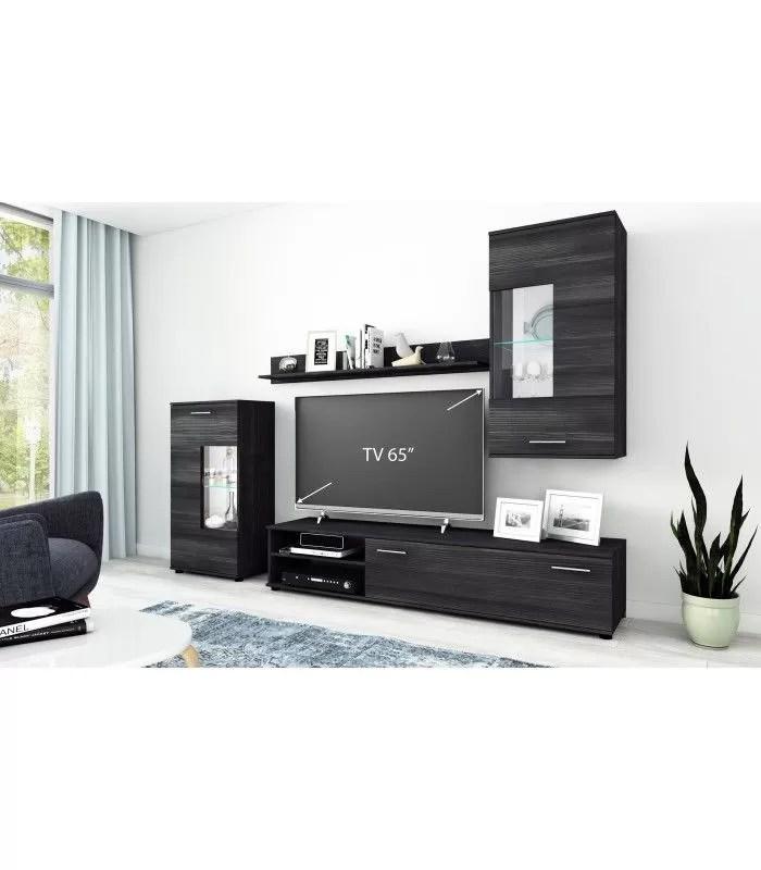 ensemble de meubles tv moderne en bois noir