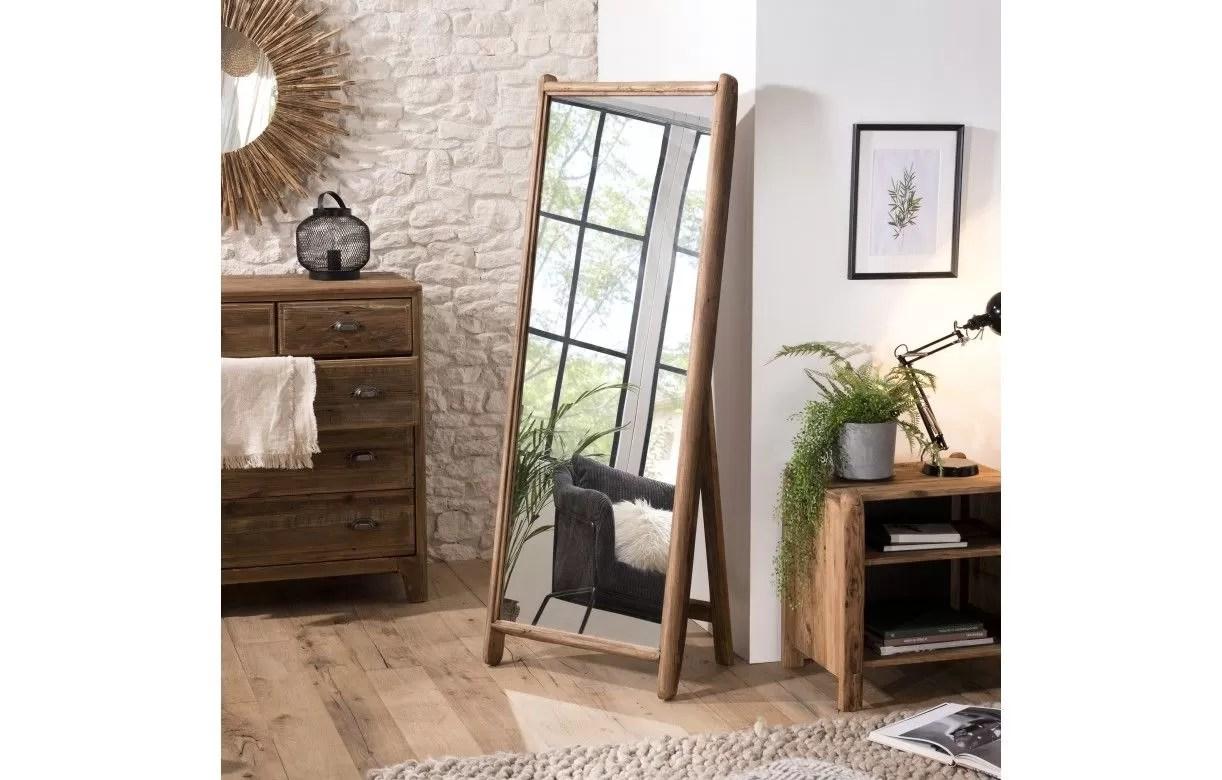 miroir sur pieds psyche bois massif de