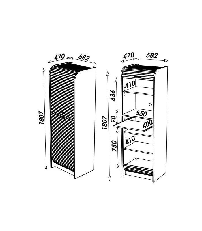 meuble micro onde wenge ou hetre avec rangements de cuisine et rideau 180