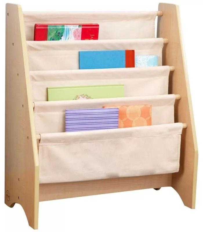 bibliotheque pour enfants bois et toile souple