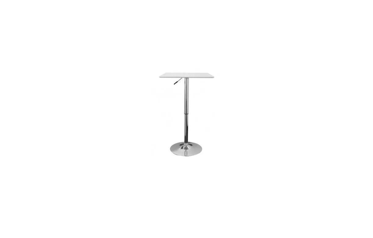 Table De Bar Plateau En Simili Cuir Noir Ou Blanc Rglable