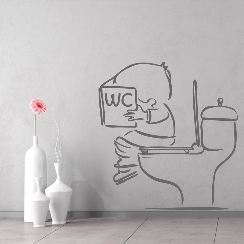 stickers muraux toilettes decorez vos