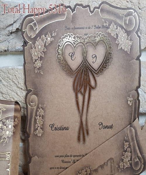 Invitatie de nunta cod 5316 din Catalogul Concept