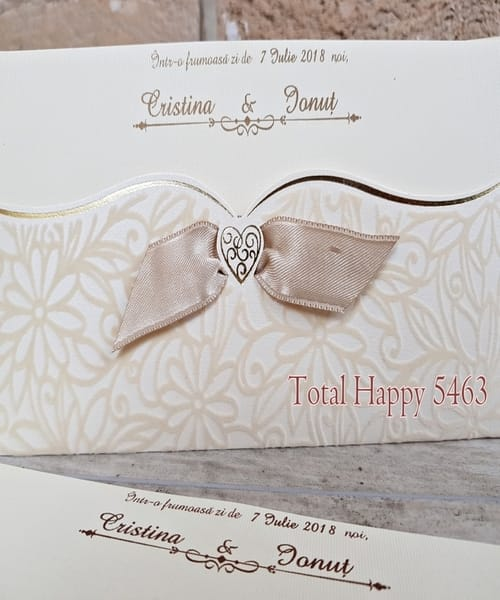 Invitatie de nunta cod 5463 din Catalogul Concept