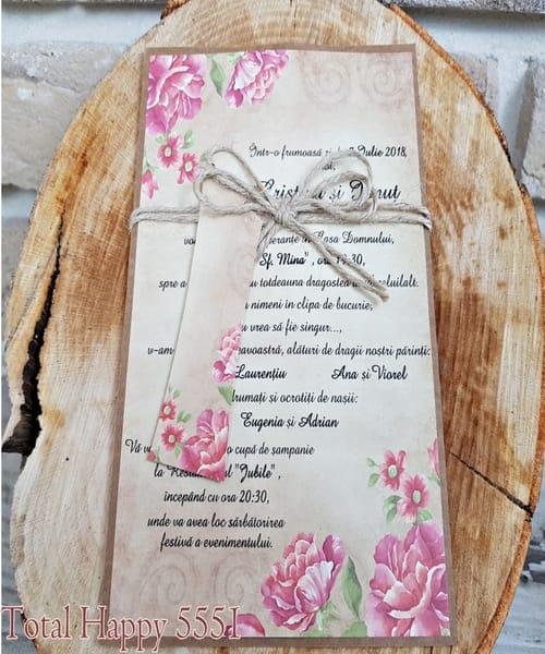 Invitatie de nunta cod 5551 din Catalogul Concept