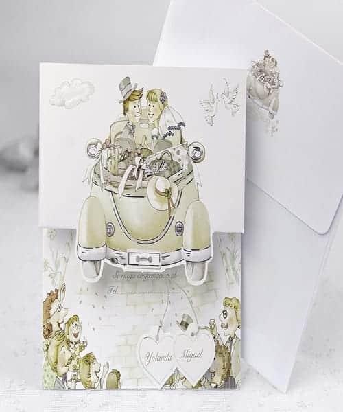 Invitatie de nunta cod 31509 din Catalogul Emma