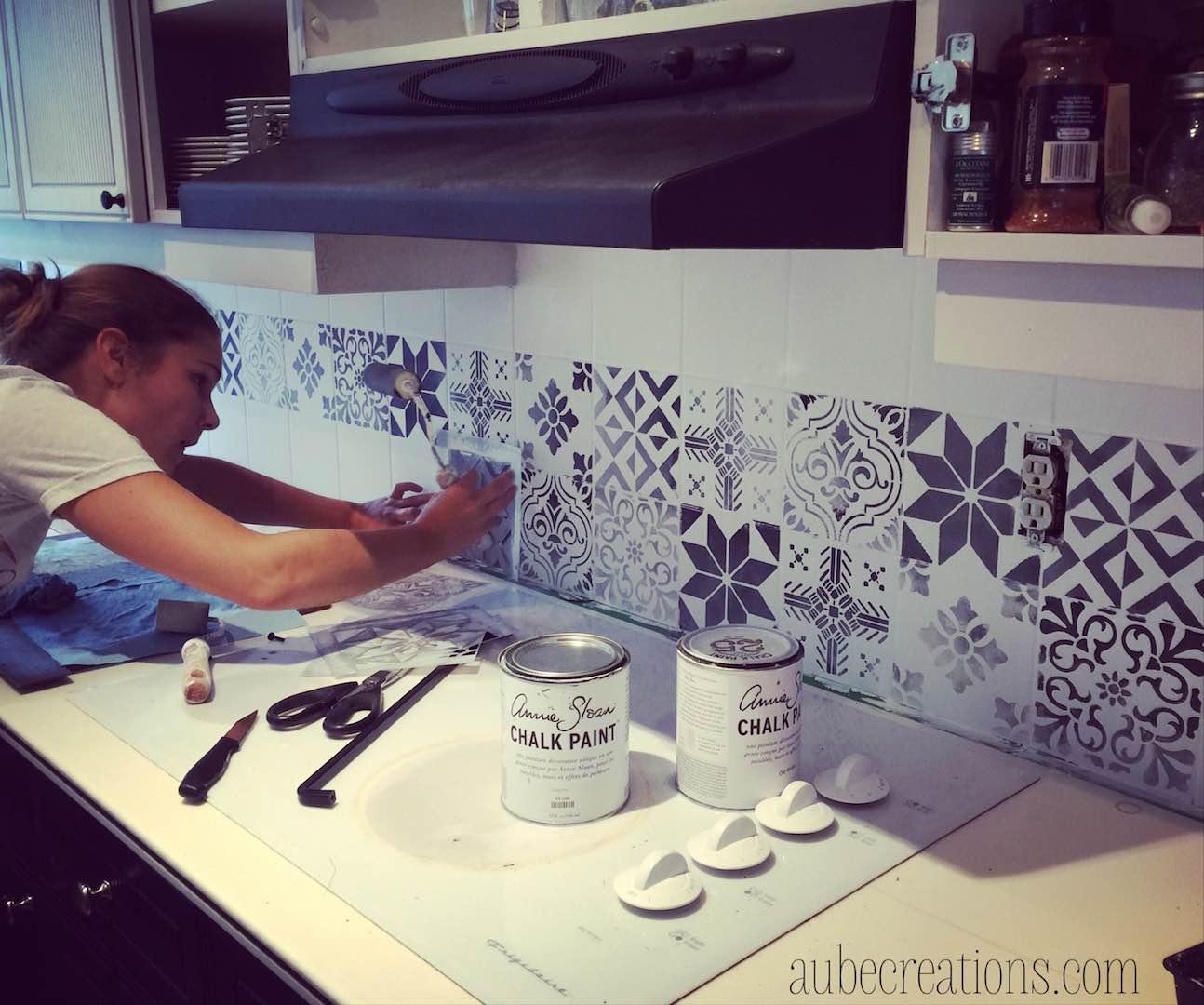 peindre son vieux carrelage de cuisine