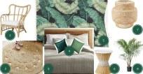 planche d'ambiance chambre jungle naturelle