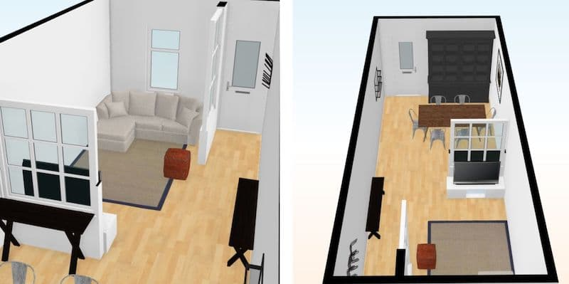 solutions pour un petit salon ouvert