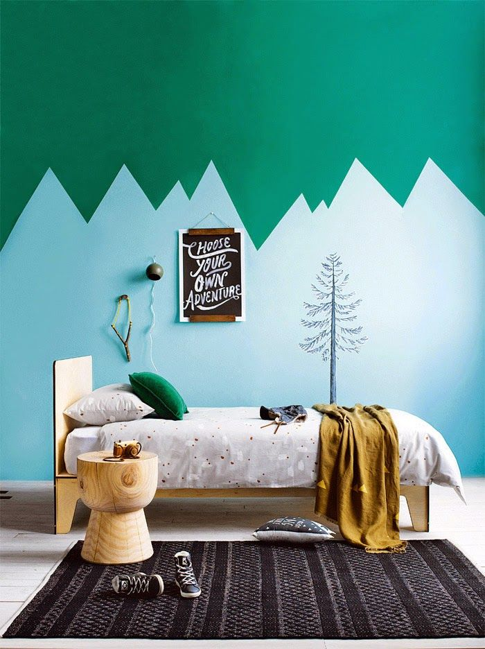 decoracion-habitacion-infantil-montañas