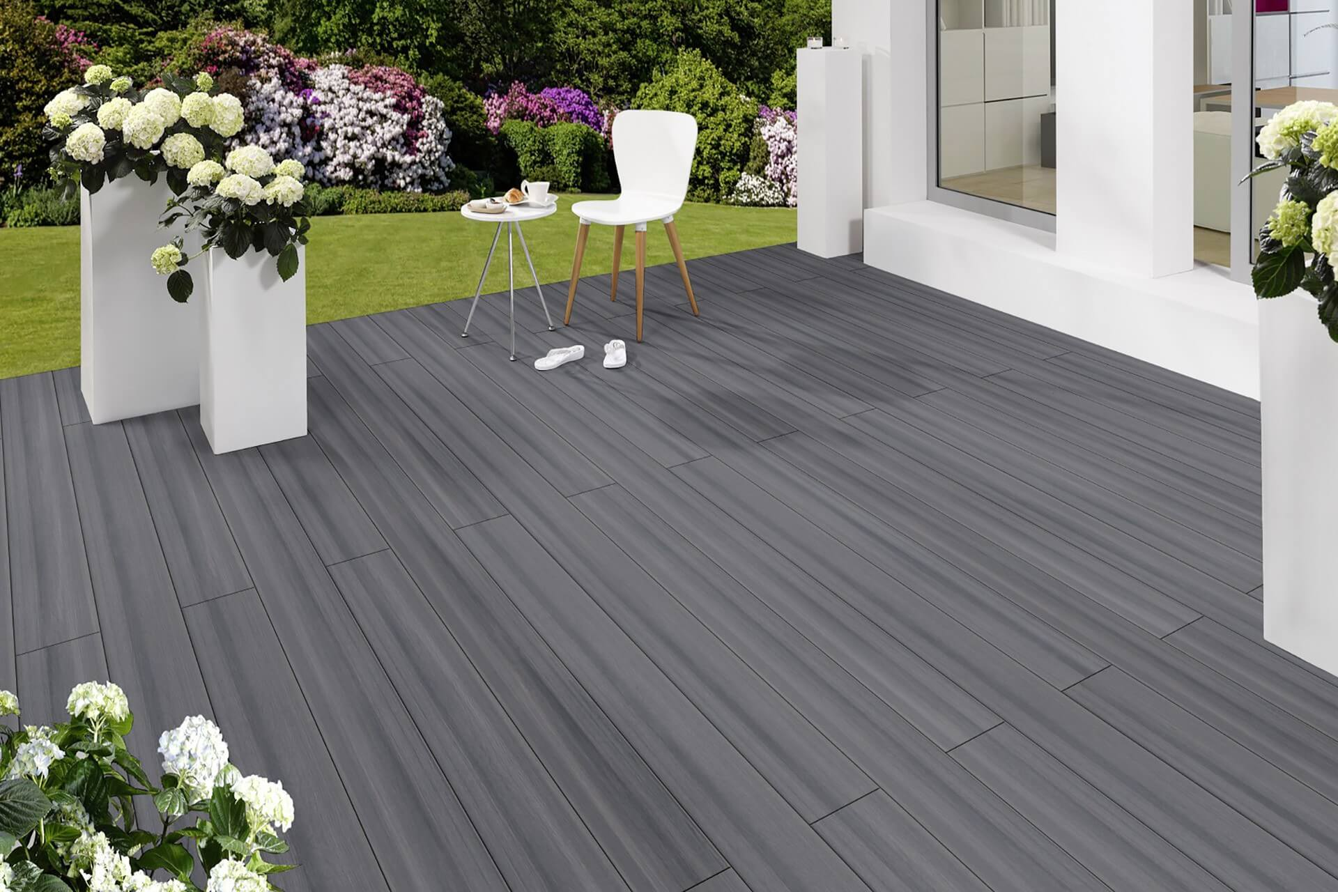 grey outdoor lames de terrasse en composite wpc decking long 2 20 m