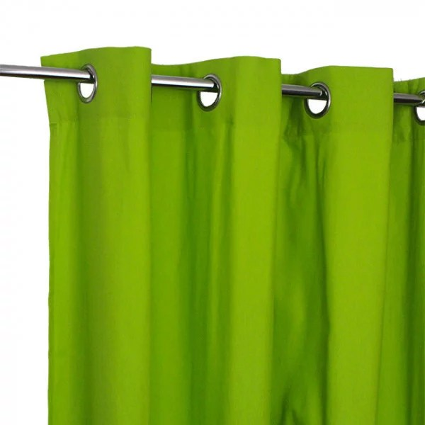rideau tissu vert anis victoria