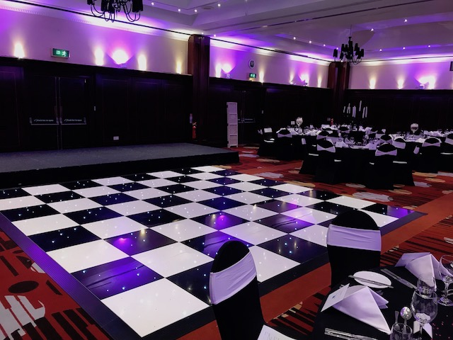 Black & White Starlight Dance Floor