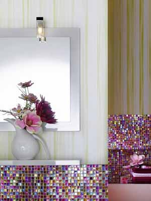Contemporary Bathroom Decorating Ideas Bright Purple And Pink