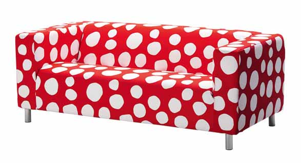 Red Accent Chair Ottoman