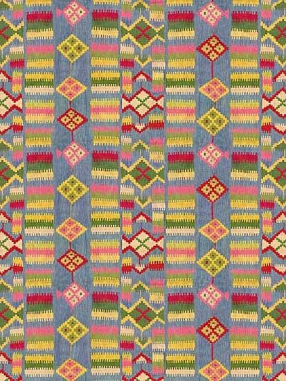 Italian Textiles And Fabric Prints Inspired By Eastern Floor Rugs And Kilims