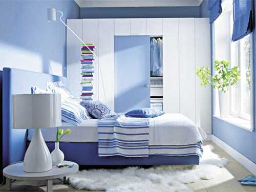 Small Bedroom Design Blue And White Decorating Wall Paint Bedding 25