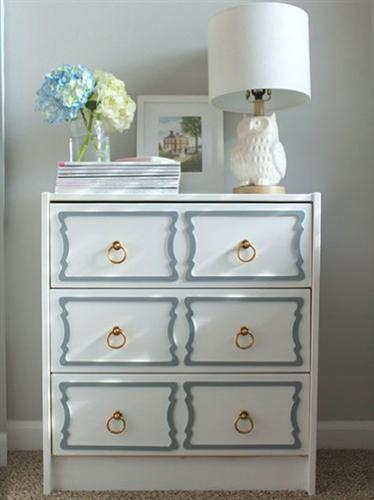 White And Brown Dresser