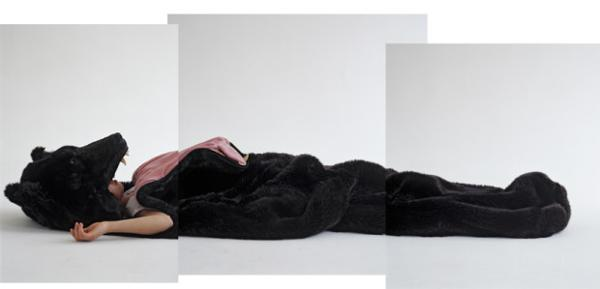 Bear Sleeping Bag And Large Pillow For Kids Room Decorating