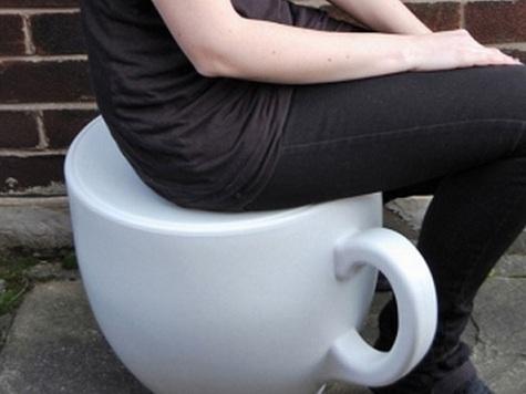 taburetes Taburetes con forma de taza de café
