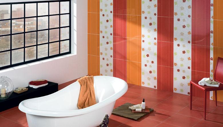 Azulejos de colores para el cuarto de ba o - Azulejos decorativos para salones ...