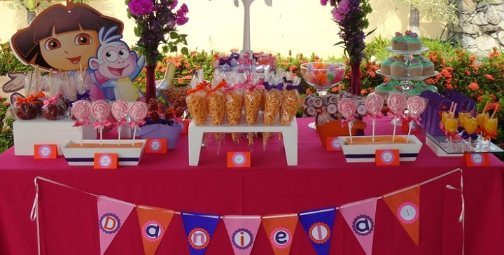 C mo decorar una mesa de dulces festaentertainment - Mesas dulces para ninas ...