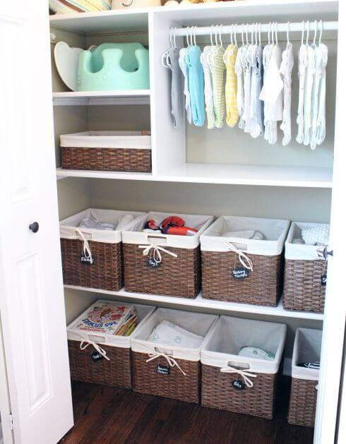 caixas organizadoras para quarto de bebê
