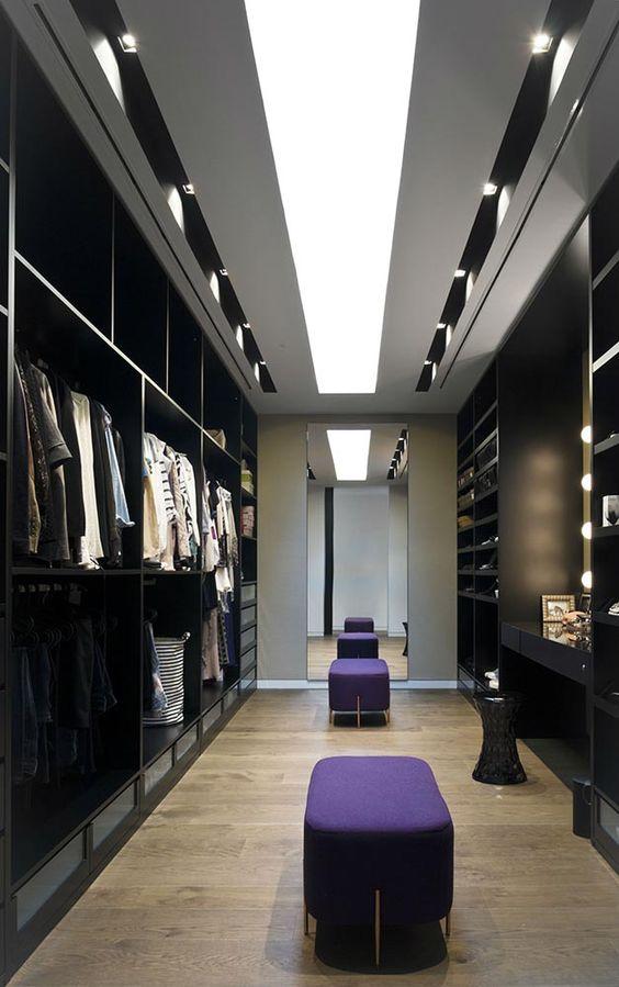 iluminação closet
