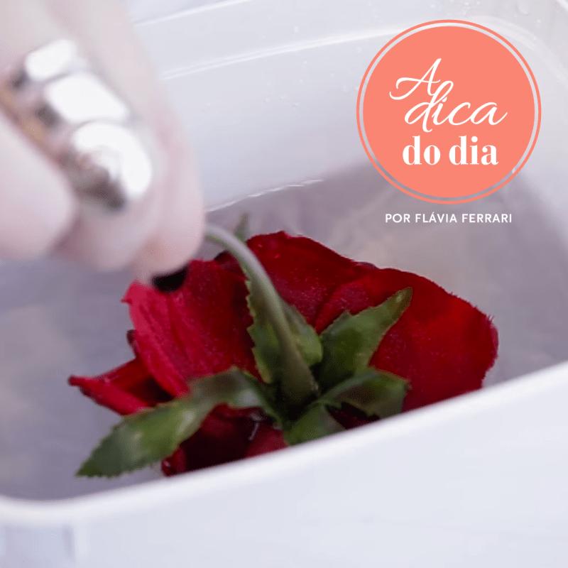 como limpar flor artificial