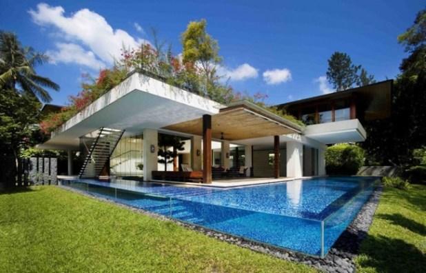 tangga house piscina transparente