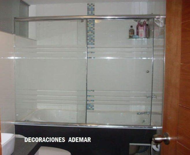 Puertas de duchas vidrio templado puertas para duchas for Puerta corrediza para ducha