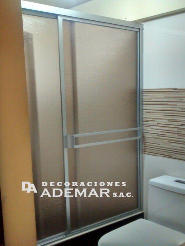 Puertas de duchas vidrio templado puertas para duchas for Limpiar mampara ducha cristal templado