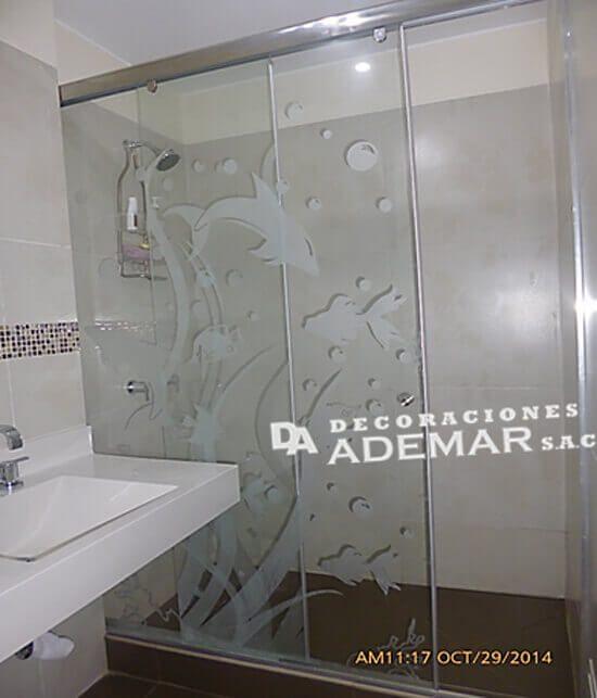 Puertas de duchas en vidrio templado mamparas para duchas for Puerta cristal templado