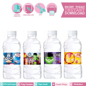 Avengers Etiquetas de Agua