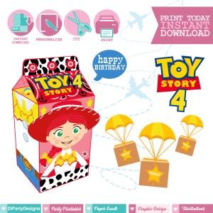 Toy Story 4 Caja Milkbox Jessie