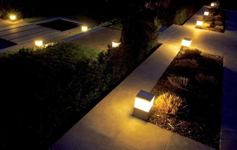 lamparas para patios y jardines