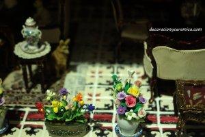 azulejos casitas de muñecas ceramica
